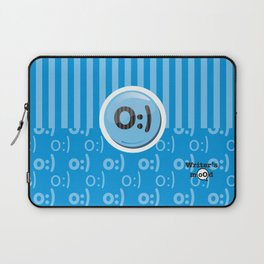 Blue Writer's Mood Laptop Sleeve