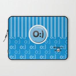 Blue Writer's Mood Laptop Sleeve