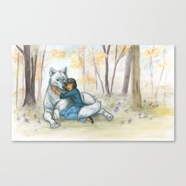 Brother Wolf: Dream Canvas Print