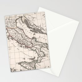 Vintage Map of Italy (1825) Stationery Cards