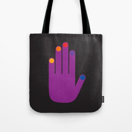 Purple Pop Hand Tote Bag