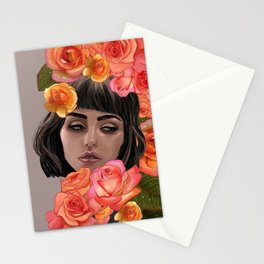 Buried in Petal Stationery Cards