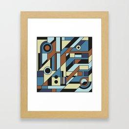 De Stijl Abstract Geometric Artwork 3 Framed Art Print