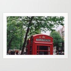 telephone boxes Art Print