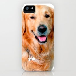 Beautiful Dog Golden Retriever and Your Bone iPhone Case