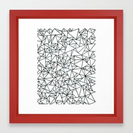 triangles (sept) Framed Art Print