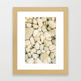 White sea pebble Framed Art Print