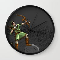 archer Wall Clocks featuring Archer the archer by YassirM