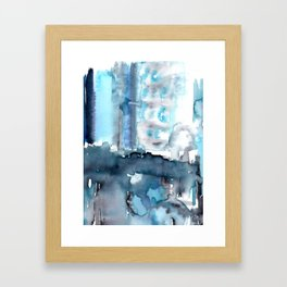 I've got the Blues: a light blue, dark blue, navy blue watercolors - Original watercolor artwork Framed Art Print