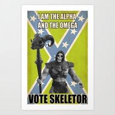 Vote Skeletor Art Print