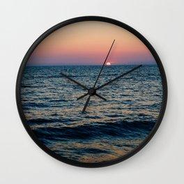 Dreamy Pastel Cape May Sunset Wall Clock