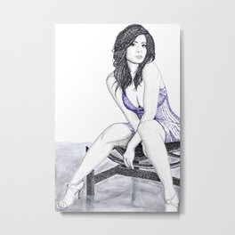 Sarah Shahi, Tribute to The L Word - Word Art Metal Print