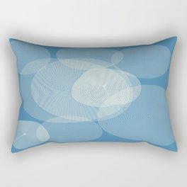 Blue abstract pattern Rectangular Pillow