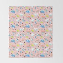 Postmodern Lotus Toss Throw Blanket