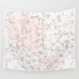 Dandelion field. Abstract pattern Wall Tapestry