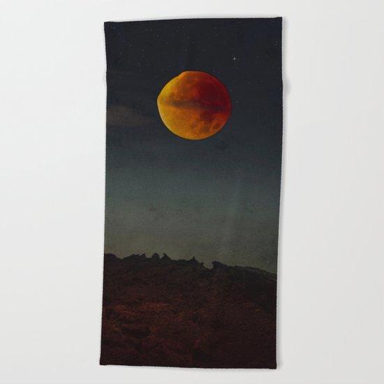 Blood Moon Rising Beach Towel