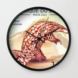 Ground Pangolin Wall Clock