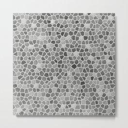 Faux Mosaic in light grays Metal Print