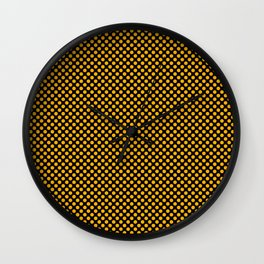 Black and Gold Fusion Polka Dots Wall Clock