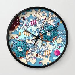 Sweet Blue Camo Wall Clock