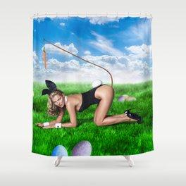 XXX Easter Bunny Shower Curtain