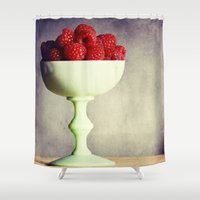dessert Shower Curtains featuring Raspberries for Dessert by Lawson Images
