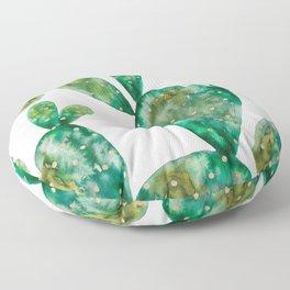 Gold Cactus | Original White Palette Floor Pillow