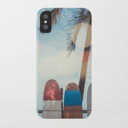 Surf Life Tropical Coastal Landscape Surfboard Scene iPhone Case