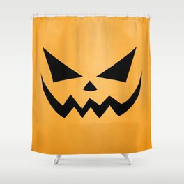 Scary Jack-O-Lantern Shower Curtain