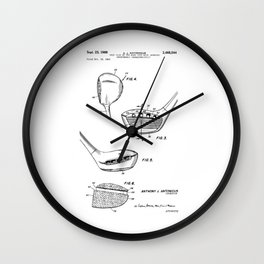 patent art Antonious Golf Club of the wood type 1969 Wall Clock