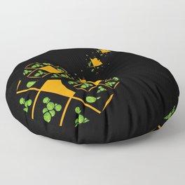 Orange and Green Spaces 110 Floor Pillow