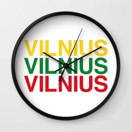 VILNIUS Wall Clock
