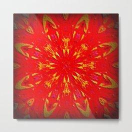 Fire Mandala Metal Print