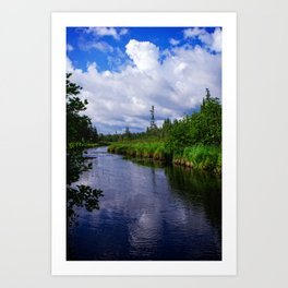 Nature Photography - Boundary Waters - BWCA Minnesota - Blue and Green Art Print