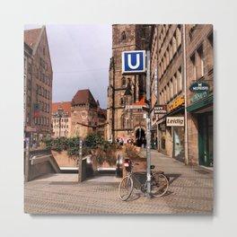 Change to U-Bahn Metal Print
