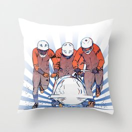 Cool Runnings - Bobsleigh 4 men team Throw Pillow