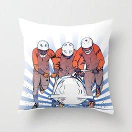 Cool Runnings - Bobsleigh 4 men team Throw Pillow
