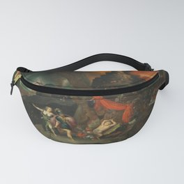 aeneas and the sibyl in the eye's underworld Fanny Pack
