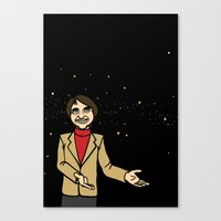 carl sagan Canvas Prints featuring Carl Sagan by Didelphis Universum