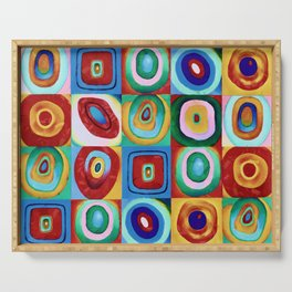 Colorful circles tile Serving Tray