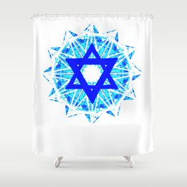 Jewish Star Shower Curtain