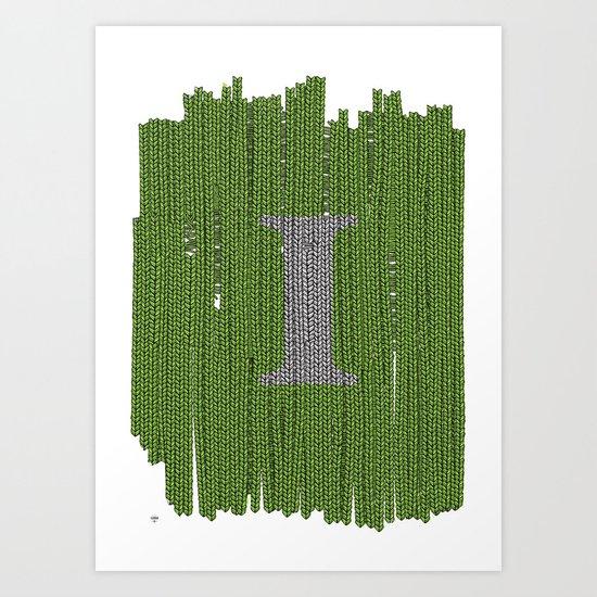 Winter clothes III. Letter i. Art Print