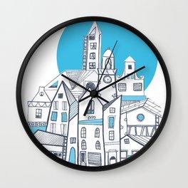 Blue hill Wall Clock