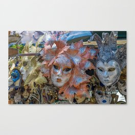 Venice masks Canvas Print