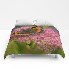 Butterfly on a Flower Comforters