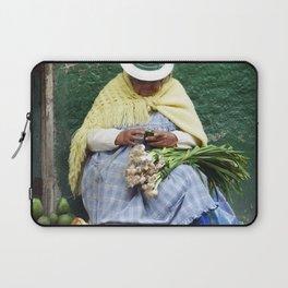 Vegetable and Fruit vendor, Cuenca, Ecuador Laptop Sleeve