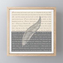 ANNABEL LEE (Allan Poe) Framed Mini Art Print