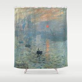 Claude Monet – Impression soleil levant – impression sunrise Shower Curtain