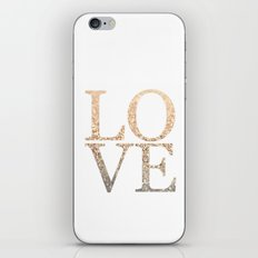 GOLD LOVE iPhone & iPod Skin