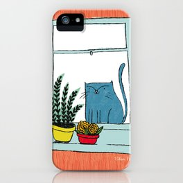 Cat by the window iPhone Case